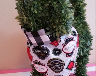 Kentucky Derby Run for the Roses Bandana Dog Cat Pet Plaid