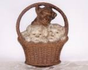 SALE!  Syroco Wood, 3 Pups in Basket