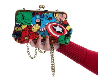Marvel Avengers Superhero Day Handbag and Clutch In One