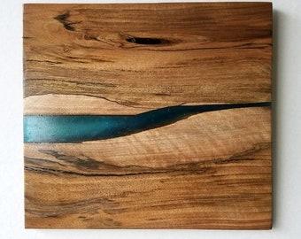 English walnut resin art