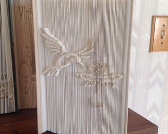 Hummingbird cut and fold outie pattern