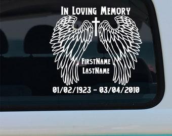 In Loving Memory Memorial Decal