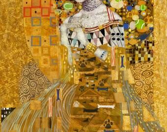 Gustav Klimpt Greeting Card - Birthday Cards - Stationary - Paper Goods - Unique Gift - Illustration - Dog Lovers