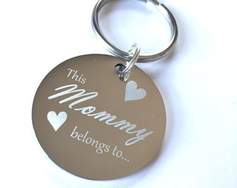 Personalized. Mommy stainless steel Key chain