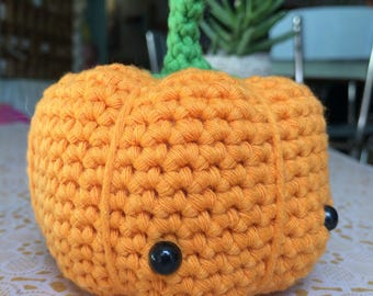 Amigurumi crochet pumpkin