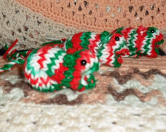 Knitted Gerbil - Christmas Holiday
