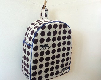 Childrens Backpack, Kids Backpack, Toddler Backpack,  Panther Dots