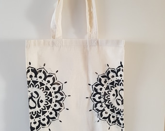 Hand Stencilled 100% Cotton Tote bag