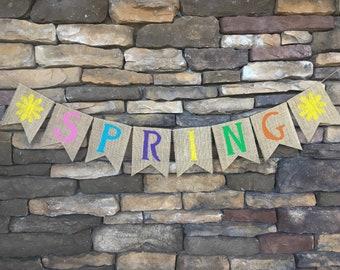 Easter Burlap Banner, Easter Garland, Easter Decor, Easter Decoration, Easter Photo Prop, Easter Bunting, Spring banner, Spring decor