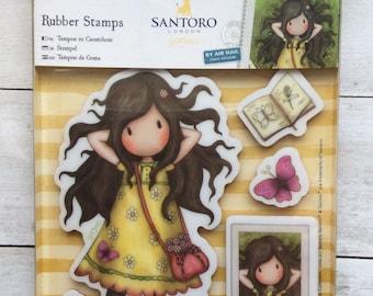 Gorjuss Rubber Stamp Set Spring At Last