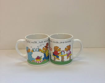 Vintage The Berenstain Bear Coffee Mug Ceramic Handcrafted 1987