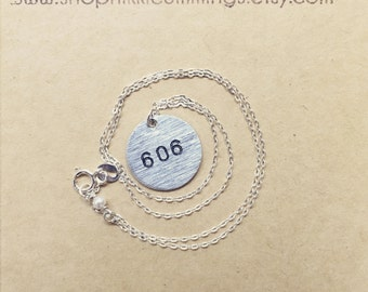 Silver Area Code Necklace