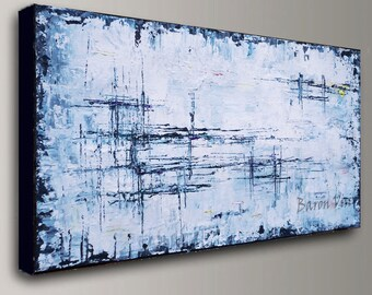 Abstract Painting Acrylic Large Wall Fine Art Home Acrylic Oil Interior  Bedroom Office Decor Canvas Textured