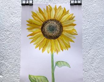 Sunflower Watercolor original
