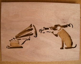 Banksy Dog With Bazooka Stencil