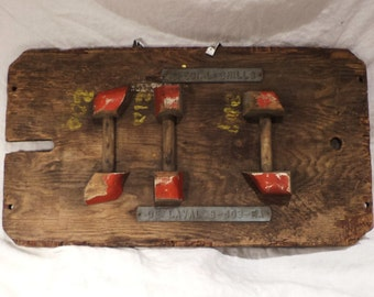 Foundry Mold, Antique Wood, De Laval Dairy Parts, Special Chills, Industrial Factory Salvage