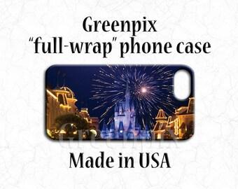 Disney iPhone case, iPhone X, iPhone 8, iPhone 7, iPhone 6, Plus, fireworks, Cinderella Castle, Main Street USA, Disney phone case, greenpix