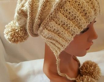 Alpaca Striped Hand Knit Hat