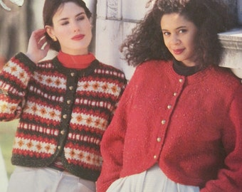 Knit Pattern Leaflet - Patons Echoes  #1090 - Vintage 1986