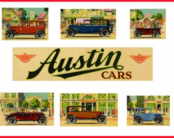 Austin Cars, Collection, Advertising, 1930s Print