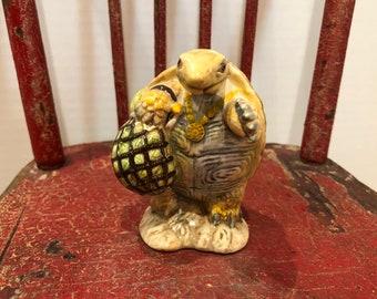 """Beatrix Potter's """"Mr. Alderman Ptolemy"""" Turtle Figure-F. Warne & Co. Ltd., 1973, Beswick, Made in England"""