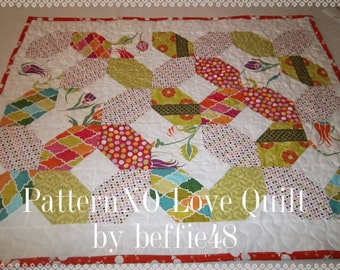 XO Hugs and Kisses Quilt Pattern Tutorial, with photos, pdf