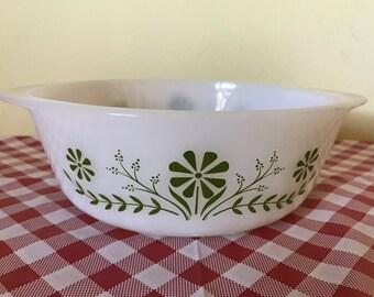Vintage Glasbake Primrose Dream Casserole Dish