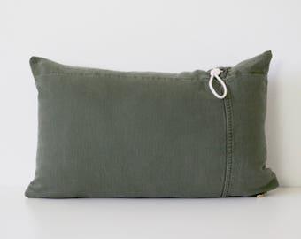 Lumbar Pillow | Army Canvas | Military Canvas | Home Decor | Boho Chic | Throw Pillow | Bohemian Decor | Modern Farmhouse | Rustic Style