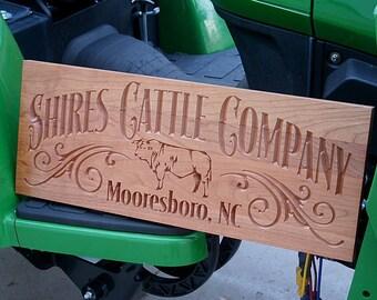 Family Farm Sign, Ranch Sign, Custom Farm Sign, Business Sign, Personalized Sign, Family Ranch Sign, Benchmark Custom Signs, Cherry FS
