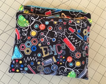 Science zipper pouch can be used as a pencil case, cosmetic case