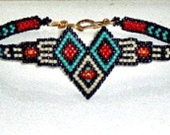 Southwest Diamonds Bracelet - Beading Pattern