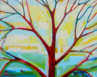 Tree View no. 51 Painting on Canvas (medium, 20x20) Fine Art by Kristi Taylor