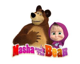Masha and The Bear Iron On Transfer
