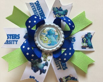 Monsters University Hairbows- Monsters Inc Hairbows- Monsters University Hairbow- Monsters University Bow- Monsters Inc Hairbow- Monsters-