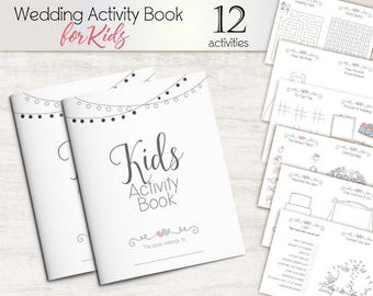 Kids Activity Pack Wedding Children Activities Book Favor Coloring Page Instant Download