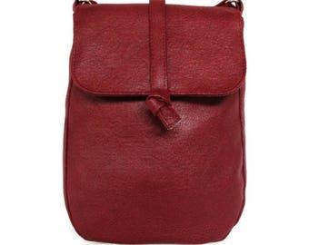 Red shoulder bag - bordeaux red bag - crossbody bag
