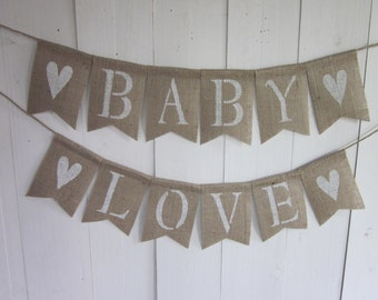 Baby Shower Banner   Rustic Chic Burlap ...