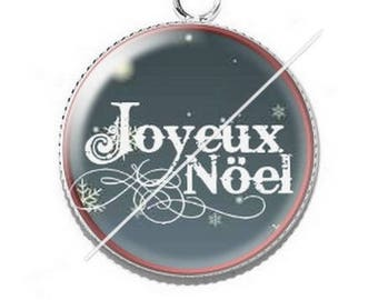 Pendant cabochon resin Merry Christmas happy holidays 24