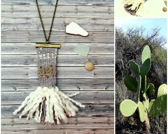 Weaving necklace minimalist