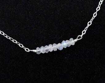 Sterling silver moonstone bracelet, Moonstone bracelet, Silver gemstone bracelet, June birthstone bracelet, Silver moonstone bracelet