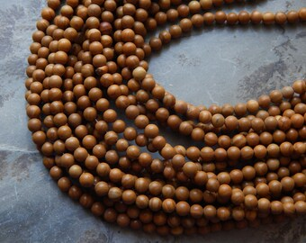 4mm Wooden Jasper Round Polished Gemstone Beads, 15.25-15.5 Inch Strand (INDOC64)