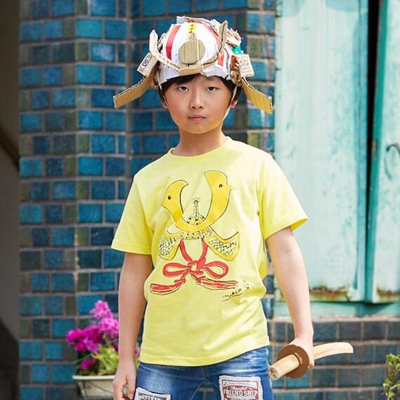 Samurai Hat Kids T Shirt Kabuto Japanese Clothes Boy