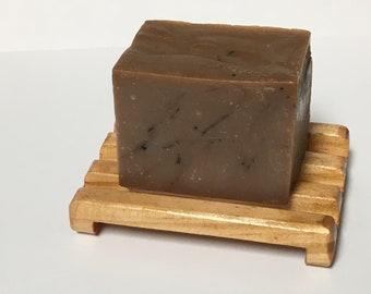 The Love Guru Sandalwood and Vanilla Handmade Vegan Friendly Shea Butter Cold Processed Soap