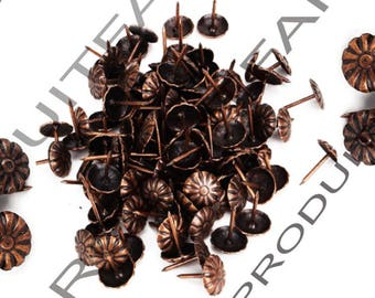 Set of 60 nail decorative copper upholstery tacks to embellish your furniture safe 11 * 16 mm frame jewelry box
