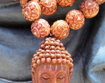 Buddha Love Meditation Mala Necklace