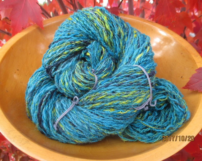Hand-Spun , Hand-Dyed Wool Yarn ~ Tropical Shores