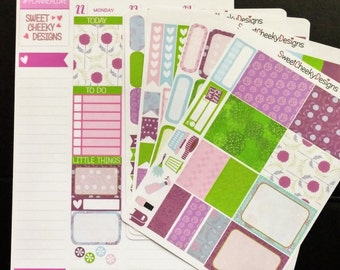 Purple Poppies Planner Kit!  Available for Erin Condren Life Planner or MAMBI/Happy Planner