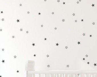 Black star decals- White star decals - Gold cut out stars, cute little stars, delicate star pattern, Gold pattern Gold wall decals by Jesabi