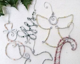 Christmas Ornament Set, Christmas Ornament, Ornament Set, Christmas Set, Snowman Ornament, Angel Ornament, Christmas Ornamemts