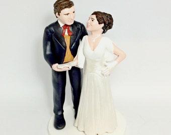 Dancing Couple Cake Topper, Custom Polymer Clay Wedding Cake Topper Keepsake